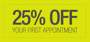 25% Off your first appointment